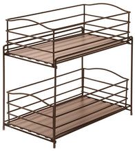 Load image into Gallery viewer, Exclusive seville classics 2 tier sliding basket drawer kitchen counter and cabinet organizer bronze