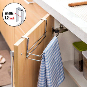 Organize with paper towel holder aiduy hanging paper towel holder under cabinet paper towel rack hanger over the door kitchen roll holder stainless steel