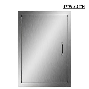 Storage organizer co z 304 brushed stainless steel bbq door ss single access doors for outdoor kitchen commercial bbq island grilling station outside cabinet barbeque grill built in