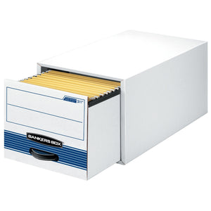 Top bankers box stor drawer steel plus extra space saving filing cabinet stacks up to 5 high legal 6 pack 00312