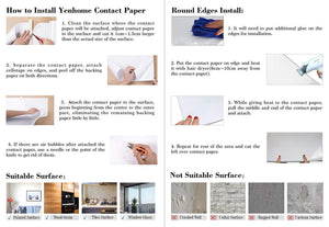 Home yenhome 24 x 393 glossy black self adhesive vinyl contact paper for cabinets covering kitchen drawer and shelf liner for wardrobe furniture wall decor peel and stick wallpaper stickers