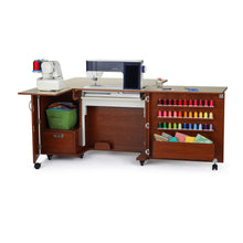 Load image into Gallery viewer, Amazon best kangaroo kabinets wallaby 2 sewing cabinet teak