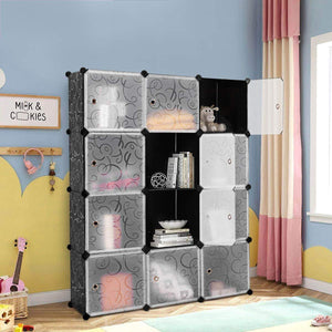 Purchase tangkula diy storage cubes portable clothes closet wardrobe cabinet bedroom armoire diy storage organizer closet 12 cubes