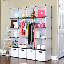 Load image into Gallery viewer, Explore unicoo diy 20 cube organizer cube storage bookcase toy organizer storage cabinet wardrobe closet deeper cube white