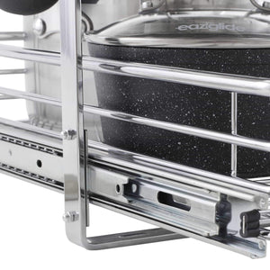Top rated household essentials c21221 1 glidez 2 tier sliding cabinet organizer 11 5 wide chrome