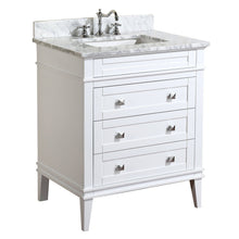 Load image into Gallery viewer, Online shopping kitchen bath collection kbc l30wtcarr eleanor bathroom vanity with marble countertop cabinet with soft close function undermount ceramic sink 30 carrara white