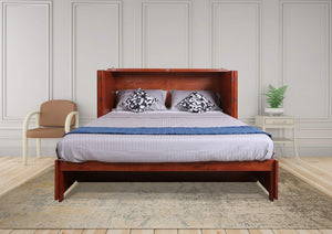 Save emurphybed com daily delight charging station gel infused mattress solid wood murphy cabinet chest bed queen cherry