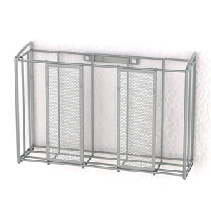 Best seller  simple houseware shw over cabinet door organizer mesh silver