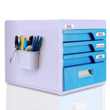 Load image into Gallery viewer, Buy now locking drawer cabinet desk organizer home office desktop file storage box w 4 lock drawers great for filing organizing paper documents tools kids craft supplies serenelife slfcab20