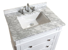 Load image into Gallery viewer, Order now kitchen bath collection kbc l30wtcarr eleanor bathroom vanity with marble countertop cabinet with soft close function undermount ceramic sink 30 carrara white