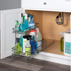 Cheap slide out cabinet organizer 11w x 18d x 14 1 2h requires at least 12 cabinet opening kitchen cabinet pull out two tier roll out sliding shelves storage organizer for extra storage