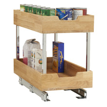 Load image into Gallery viewer, Top rated household essentials 24221 1 glidez 2 tier sliding cabinet organizer 11 5 wide wood