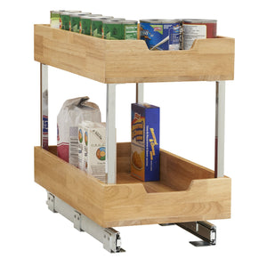 Top rated household essentials 24221 1 glidez 2 tier sliding cabinet organizer 11 5 wide wood