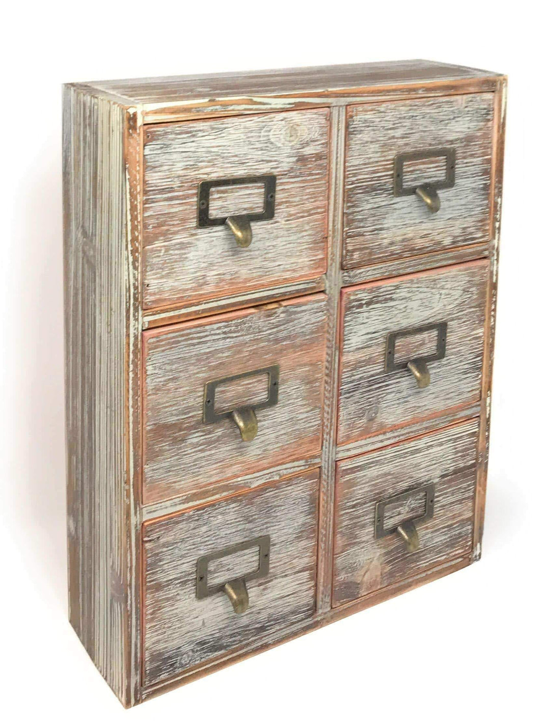 Storage organizer farmhouse decor desk organizer storage cabinet bathroom home shelves kitchen living room bedroom furniture apothecary drawers rustic wood distressed finish