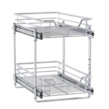 Load image into Gallery viewer, Storage household essentials c21221 1 glidez 2 tier sliding cabinet organizer 11 5 wide chrome