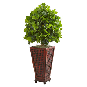 3' Ficus Artificial Tree in Decorative Planter