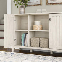 Load image into Gallery viewer, Cheap bush furniture salinas accent storage cabinet with doors in antique white
