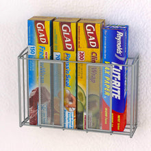 Load image into Gallery viewer, Best simple houseware shw over cabinet door organizer mesh silver