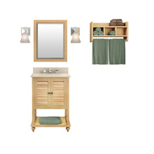Load image into Gallery viewer, Gallina Natural Bath Vanity Set with Shelf/Mirror