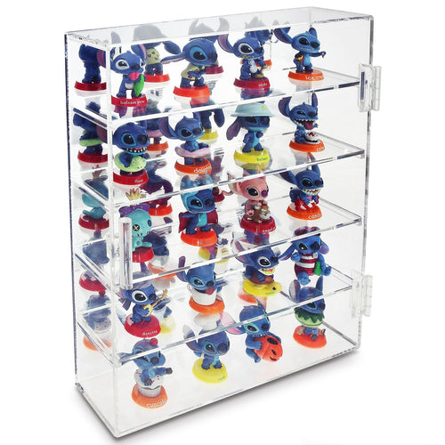 #COT1762 Mirror Backed 4 Shelves Shot Glasses Display Case