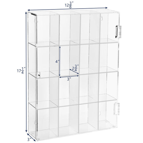 #COT3016 Acrylic Display Rack for Funko Pop Figure Display, with 16 Compartments