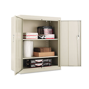 "Alera Assembled 42"" High Storage Cabinet, w/Adjustable Shelves, 36w x 18d, Putty"