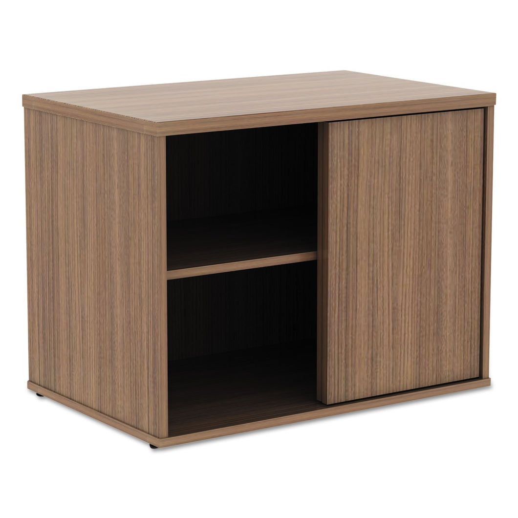 Alera Alera Open Office Low Storage Cabinet Credenza, 29 1/2 x 19 1/8x 22 7/8, Walnut