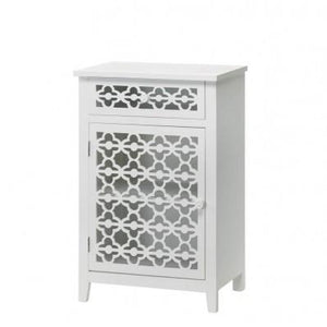 Meadow Lane Floral White Storage Cabinet 10015874 Free Shipping