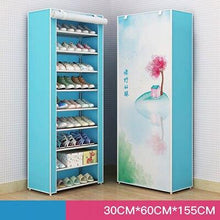 Load image into Gallery viewer, Pretty yet  Practicle 8 or 10 Shelf DIY  Dustproof Fabric  Storage Cabinet Folding Organizer