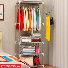 Load image into Gallery viewer, MAGIC UNION Simple Metal Iron Coat Rack Floor Standing Clothes Hanging Storage Shelf Clothes Hanger Racks Bedroom Furniture