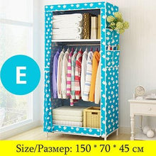 Load image into Gallery viewer, Actionclub Minimalist Modern Non-woven Cloth Wardrobe Baby Storage Cabinet Folding Steel individual Closet Bedroom Furniture