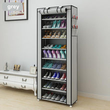 Load image into Gallery viewer, 43.3-inch 7-layer 9-grid Non-woven fabrics large shoe rack organizer removable shoe storage for home furniture shoe cabinet