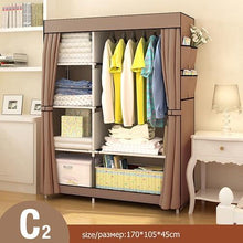 Load image into Gallery viewer, Modern Non-woven Cloth Wardrobe Folding Clothing Storage Cabinet Multi-purpose Dustproof Moistureproof Closet Bedroom Furniture