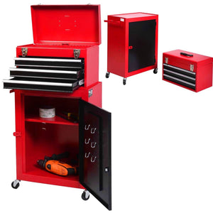 2pc Mini Tool Chest Cabinet Storage Toolbox