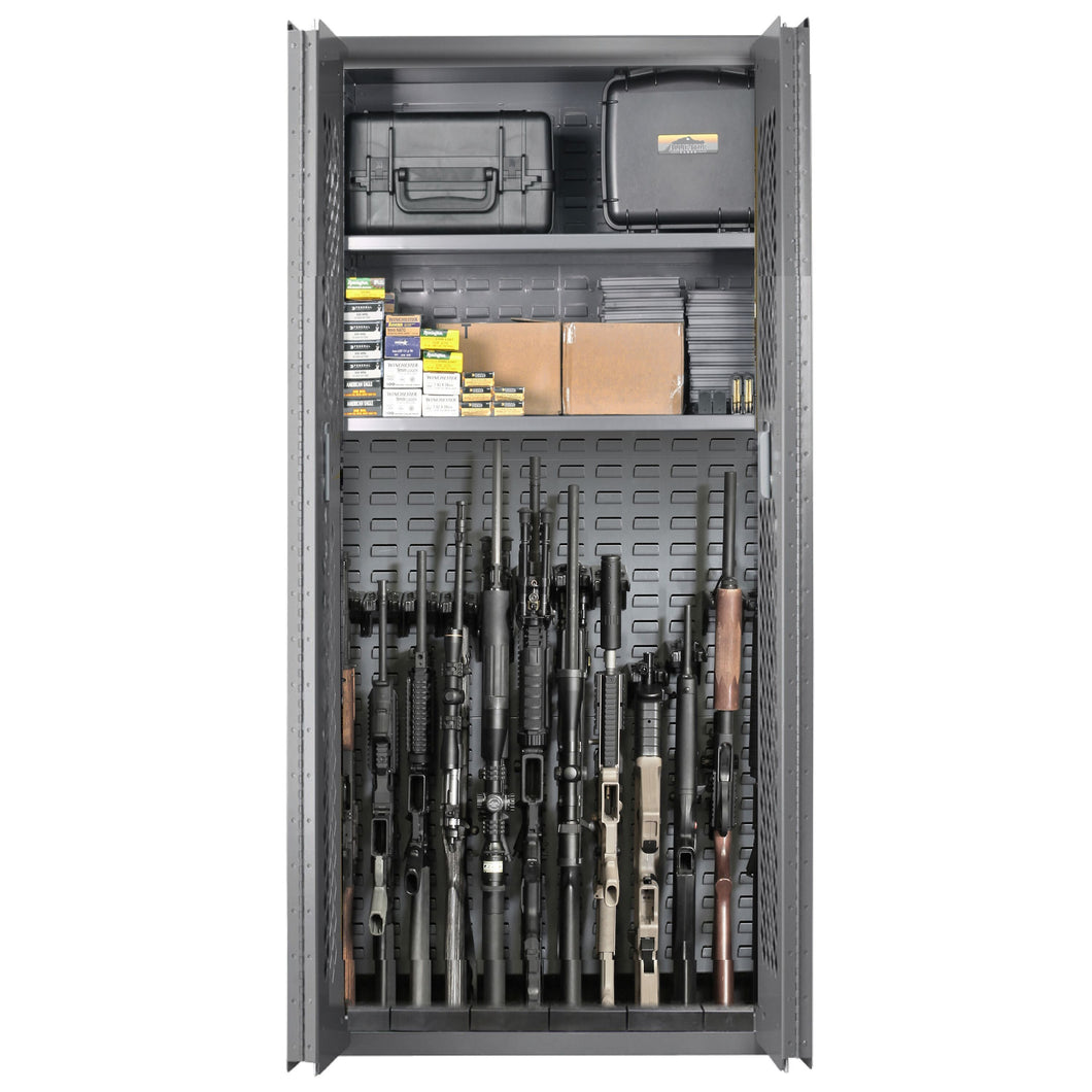 SecureIt Tactical SEC-200-12R Model 72: 12 Gun Storage Cabinet