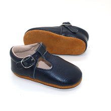 Load image into Gallery viewer, Lottie T-Bar Leather Shoes Navy