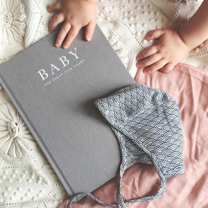 Baby Journal - Birth To Five Years GREY