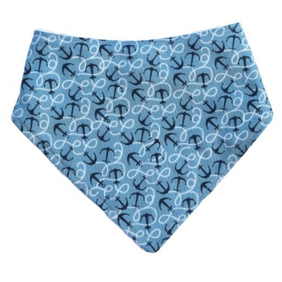 Blue Anchors Bandana Bib