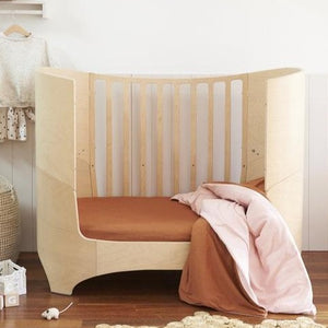 Go To Bed Fitted Cot Sheet in Clay