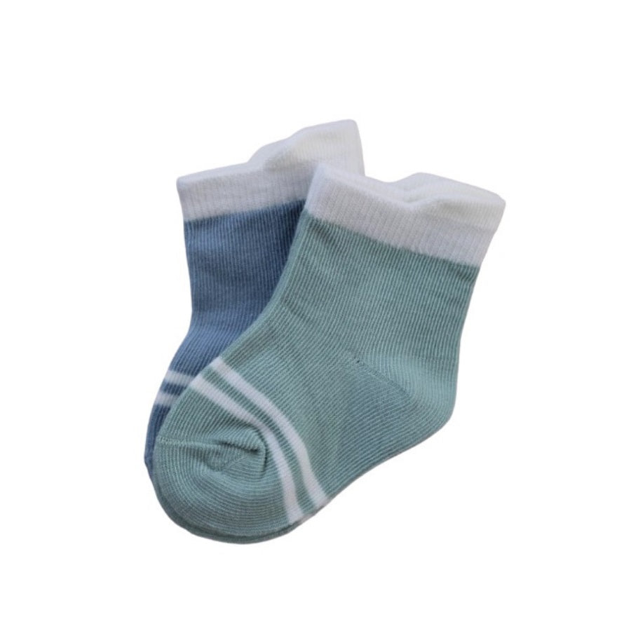 Organic Duo Socks Moss & Sea 2-Pack