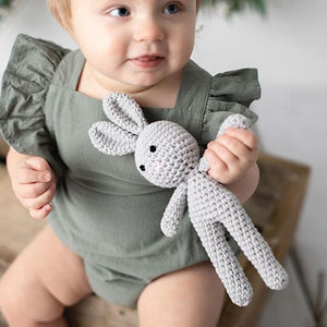 Lulu Crochet Bunny Grey - Fauve + Co