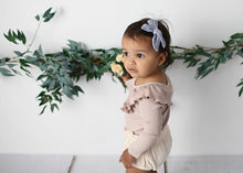 Load image into Gallery viewer, Ivy Linen Hair Bow Light Blue - Fauve + Co