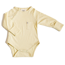 Load image into Gallery viewer, Our Joey Organic Long-sleeve Bodysuit Pear Sorbet