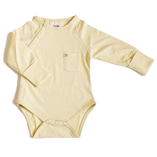 Our Joey Organic Long-sleeve Bodysuit Pear Sorbet
