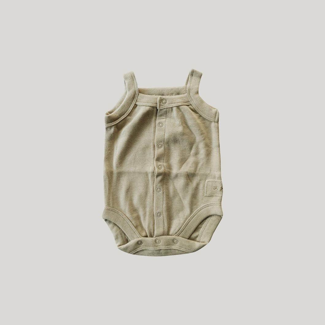 Susukoshi Organic Tank Top Suit Milk Tea
