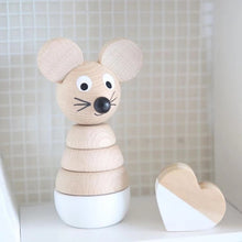 Load image into Gallery viewer, Wooden Mouse Stacking Puzzle - Hobbs - Fauve + Co