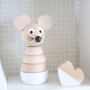 Wooden Mouse Stacking Puzzle - Hobbs - Fauve + Co