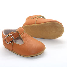 Load image into Gallery viewer, Lottie T-Bar Leather Shoes Tan