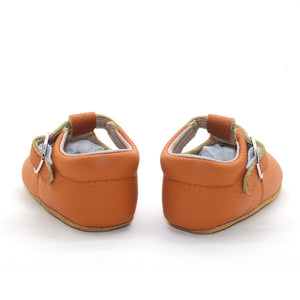 Lottie T-Bar Leather Shoes Tan