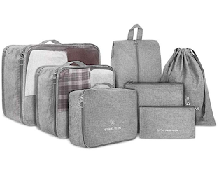 7-Piece Luggage Organizer Packing Cube Set Bag for Only $10.63!!!